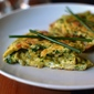 08.14.13: dinner (omelette aux fines herbes as a tortilla, part I)