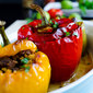 Bell Peppers Stuffed with Spelt and Lamb