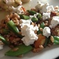Farro, Pea and Goat Cheese Salad