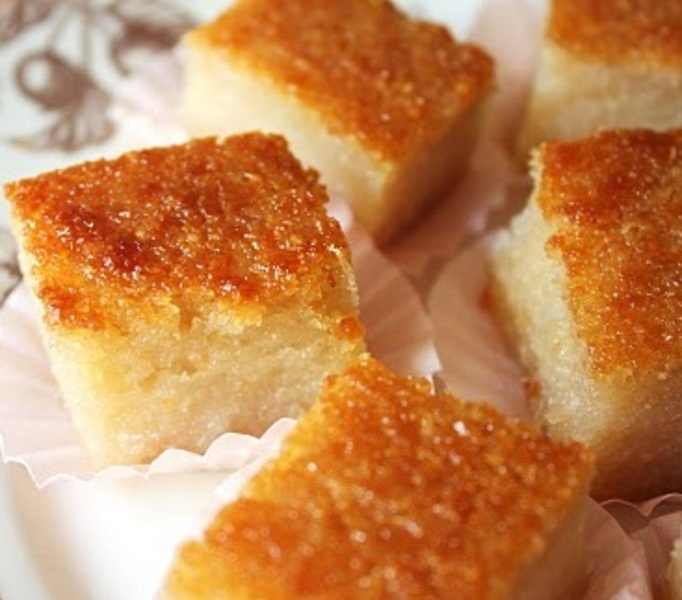 Cassava Cake With Shredded Coconut Recipe — Dishmaps