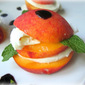 Peach Caprese: Fruit Burgers?