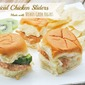 Tropical Chicken Sliders Made with Voskos Greek Yogurt