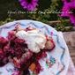 RECIPE: Upside Down Cobbler Peach and Blueberry Cake