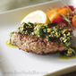 Lamb Burgers with Mint-Pistachio Pesto