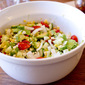 Avocado and Roasted Corn Salad with Lime Cilantro Dressing
