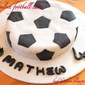 Red velvet football cake | Kukskitchen