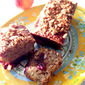RECIPE: Peach Bread with Raspberry Filling and Graham Almond Crumble