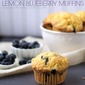 Cake Mix Lemon Blueberry Muffins