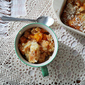 3 Ingredient French Vanilla Peach Cobbler