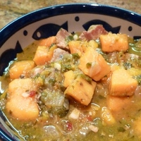 Pork, Sweet Potato and Poblano Stew