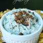 Killer Spinach Dip #BaconBowl #BaconMonth