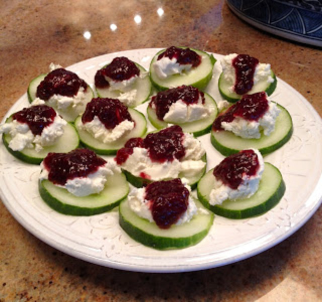 Cucumber Goat Cheese Bites Recipe by Kimberly - CookEatShare