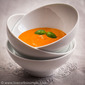 Appetizer Soup from Red Bell Pepper, Garlic and Basil