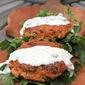 Salmon quinoa cakes with dill caper sauce