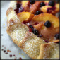 Easy Peach and Blueberry Galette