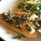 Fish with a Lemon Caper Sauce
