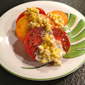 Heirloom Tomato Salad with Creamy Corn Dressing