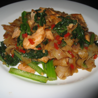 Thai Salmon And Rice Noodles Stir-Fry Recipe by Samantha ...