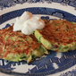 Zucchini, Bacon and Cheese Fritters.