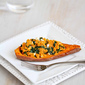 Stuffed Sweet Potato Recipe with Spinach, Hummus & Feta