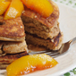 Pecan Pancake Recipe with Bourbon Vanilla Peaches