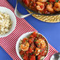 Shrimp Puttanesca Rice Bowl Recipe with Capers & Tomatoes
