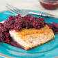 Spicy Blackberry Jalapeno Chutney with Seared Salmon