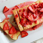Lemon Cream Cheese Pound Cake with Strawberry Topping