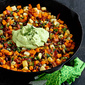 Sweet Potato Hash Recipe with Creamy California Avocado Sauce