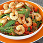 Stir Fried Prawns and Sugar Snap Peas