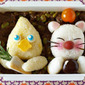 How to Make FINAL FANTASY Bento Lunch Box (Chocobo and Moogle) - Video Recipe
