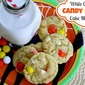 White Chocolate Candy Corn Cake Mix Cookies