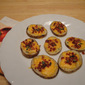 Potato Rounds with Cheese and Bacon