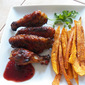 Raspberry Chipotle Sweet Hot Wings