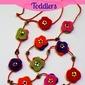 DIY felt necklace for toddlers