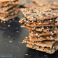 Crunchy Seeded Crackers {Bread Baking Babes}