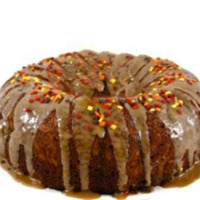 Skinny Fall Apple Cake With Caramel Glaze