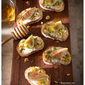 Fig, Goat Cheese, Pistachios w/Honey Crostinis