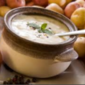 Potato Soup with Blue Cheese