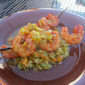 Deen shrimp with bell pepper salsa