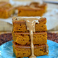 Pumpkin Ginger Bars with Maple Glaze