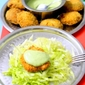 Fish Cutlet With Coriander Yogurt Chutney