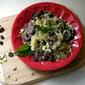 Mushroom + Basil Spaghetti Squash