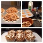 Pumpkins muffins with streusel and cream cheese drizzle