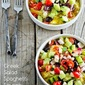 Recipe for Greek Salad Spaghetti Squash Bowl