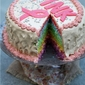 Baking | Rainbow Cake for Pinktober … #birthday #pinktober