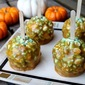 Caramel Apple-Popcorn Balls with Peanuts