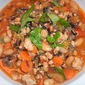 Minestrone with Ground Chicken and Wild Rice
