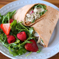 Quick Weeknight Dinner: Blue Cheese Chicken Salad Wraps