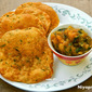 Masala Puri / Whole Wheat (atta) Puri with Aloo Ki Bhaji